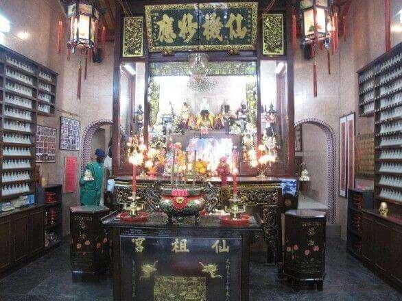 Innerhalb eines Tempels in China Town