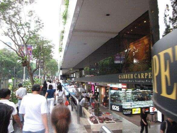 Shopping auf der Orchard Road