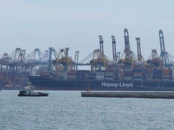 Hafenterminal in Singapur