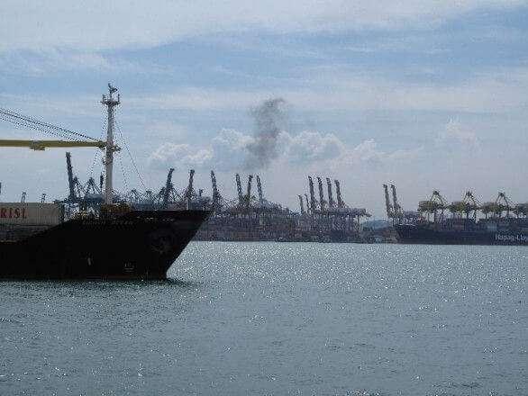 Der Hafen von Singapur