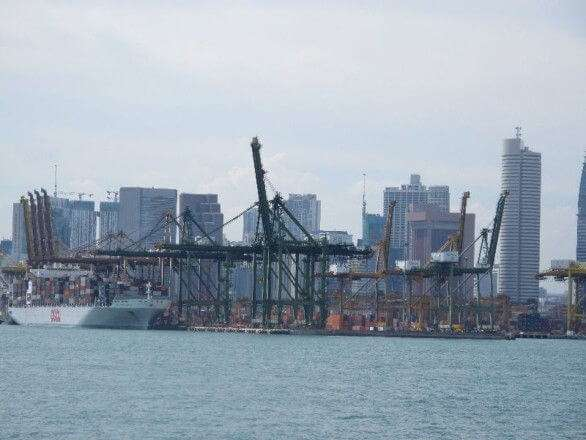 Containerhafen in Singapur
