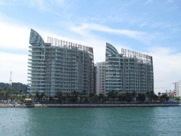 Luxuswohnhaus am Hafen von Singapur